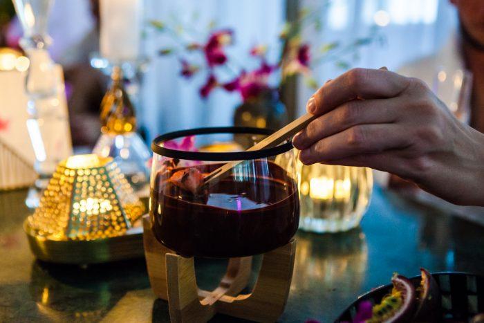 Dronningebehandlingen chokoladefondue